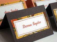 Placecards :: Placecards / escort cards / seating cards for guests by Kathy Beymer
