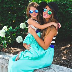 Mommy and Me Striped Maxi Dresses | UOIonline.com: Women's Clothing Boutique