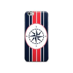 Compass N' Stripes iPhone Cases