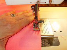 How to sew a tiny rolled hem