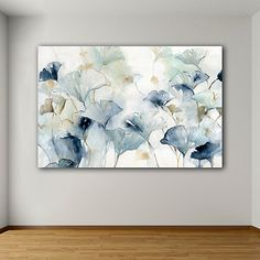 Create an elegant wall design with our Glorious Ginkgo Giclee Canvas Art Print! The stunning hues of blue and gray will look perfect in a modern home. Large Canvas Art, Diy Canvas Art, Canvas Art Prints, Wall Canvas, Modern Canvas Art, Blue Canvas, Large Wall Art, Grey Art, Art Moderne