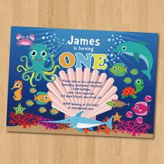 Create Own Under The Sea Birthday Invitations Templates Check More At