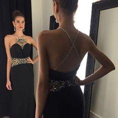 Black Long Prom Dress with Beading Custom Made Formal Dress Fashion Winter  Dance Sexy Formal Dresses 18f65a1e4
