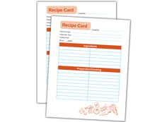 Recipe Card Template - Use these cards to preserve your recipes. Just print out the template, laminate and store in a box or binder for easy access.