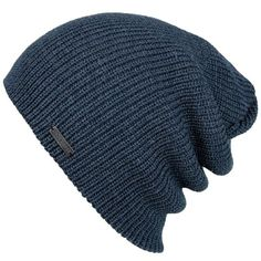 Mens Slouchy Beanie - The Forte - Blue Knit Hat - King & Fifth Supply Co.