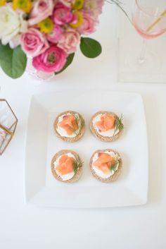 Host a lovely Mother's Day Celebration/brunch ideas/mini bagels