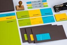 Visual identity for Visualworx. Designed by ATMO Design Studio. Corporate Identity, Corporate Design, Brand Identity, Love Design, Print Design, Graphic Design, Packaging Design, Branding Design, Letterhead Logo