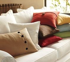 how to sew a pottery barn style pillow - easy project....now if only I could sew!