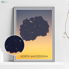 This item is unavailable Travel Maps, Travel Posters, Office Wall Decor, Wall Art Decor, Macedonia Map, New York City Map, Map Shop, Country Maps, Skyline Art