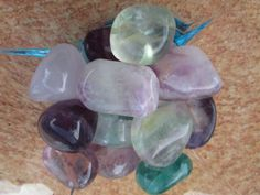 Rainbow Fluorite: A highly protective stone, especially on a psychic level. It is extremely effective against computer and electromagnetic stress.