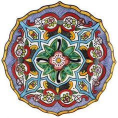 This beautiful, handmade Talavera platter makes a perfect highlight to any dining table, serving area, or wall of your home. This platter is ideal for serving all types of food or drink in southwestern style. Christmas Projects, Christmas Diy, Talavera Pottery, Native American Pottery, Assemblage Art, Unique Presents, Microwave Oven, Southwestern Style, Types Of Food