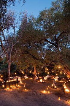 Bush Dinner at Lion Sands Game Reserve Bush Wedding, Sunset Wedding, Safari Wedding, Lodge Wedding, Sand Game, Game Lodge, River Lodge, Garden Park, Romantic Pictures