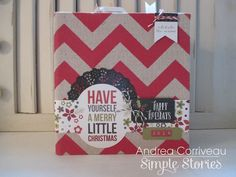 Simple Stories' DIY Christmas organizational mini-album by Andrea Corriveau