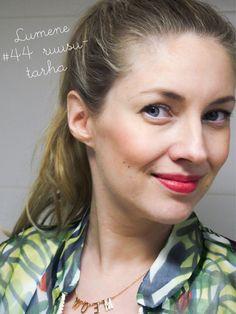 "Blogger Hertta wearing summer shade 44 ""Scent of Roses"" of Wild Rose Lipstick. #lipstick #lumene"
