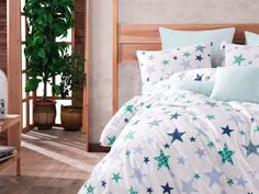 Lenjerie de Pat Single - Galaxy Albastru Comforters, Blanket, Bed, Furniture, Home Decor, Quilts, Blankets, Stream Bed, Room Decor