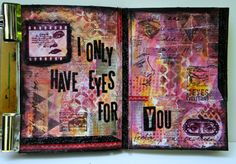 Art Journal ~ Eyes for You (Tutorial)  with Sizzix Block Type Alterations die and stamps from Darkroom Door and Stampers Anonymous
