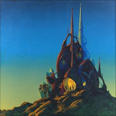The Roger Dean Gallery is the online home of iconic album cover artist Roger Dean. Browse the galleries, shop fine art prints, original paintings and sketches, or keep up to date with Roger's events and exhibitions in Patrick Nagel, Roger Dean, Arte Sci Fi, 70s Sci Fi Art, Environment Concept Art, Environment Design, Soul Art, Science Fiction Art, Fantasy Landscape