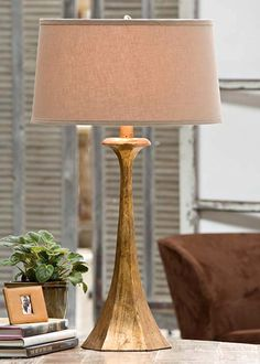 Regina Andrew Lighting Tapered Gold Table Lamp RA505411