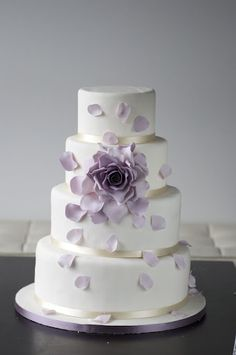 Purple Rose Wedding Cake. I will never even attempt this, but I LOVE the look of this cake...purple and a rose? Awesome!
