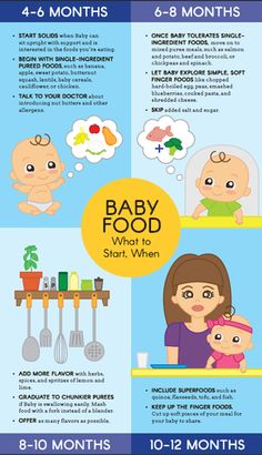Starting solids is a big milestone for your baby—and you! Take a page from our healthy-from-the-start handbook and take the guesswork out of what foods to introduce, and when. Print it out our baby food graphic. and start feeding! Baby Food Guide, Baby Food Schedule, Food Baby, 7 Month Old Baby Food, Baby Feeding Schedule, Food Guide For Babies, 3 Month Old Schedule, Baby Food Recipes Stage 1, Baby Food By Age
