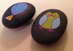 Painted Rock Bird Magnets. $5.00, via Etsy.