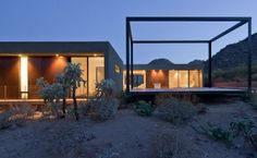 A couple commissioned Ibarra Rosano Design Architects for a modern desert vacation house outside Tucson, Arizona.  http://archrecord.construction.com/residential/featured_houses/2012/09/Levin-Residence-Ibarra-Rosano-Design-Architects.asp