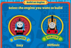 Thomas & Friends Build an Engine game lets young engineers test their abilities at easy and difficult skill levels! http://www.thomastrainrides.com/fun-and-games.html#26may15