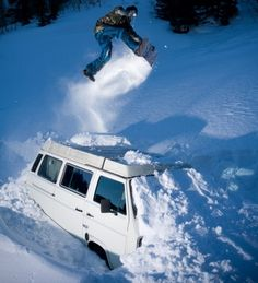 Vanagon - View topic - Vans in the Snow Vw Bus, Volkswagen, Get Outdoors, The Great Outdoors, Vw Vanagon, Ski Socks, Cute Posts, Snow Skiing, Extreme Sports