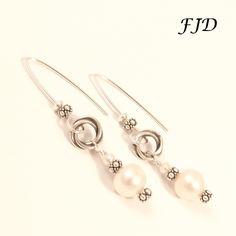 Sterling Silver and Pearl Earrings by FelicityDesignsLLC on Etsy