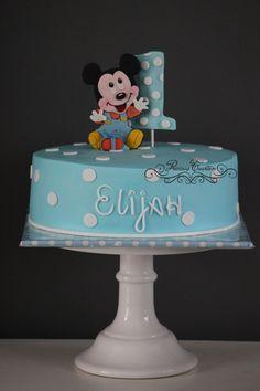Baby Mickey Mouse cake www.facebook.com/precioustaarten