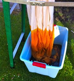 DIY Dip Dye Ombre. Can't wait to try this on some scarves!