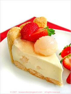 Lychee Charlotte Cheesecake - Cut by bossacafez, via Flickr