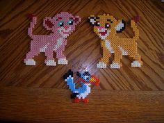 Simba, Nala and Zazu hama beads (The Lion King) by gaiarage