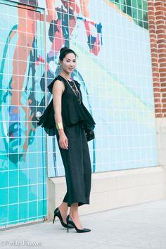 All Black : Petal Top & Culotte