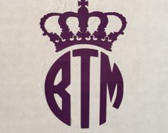 Crown Wall Decal Vinyl Decal Car Decal Al075 Cars