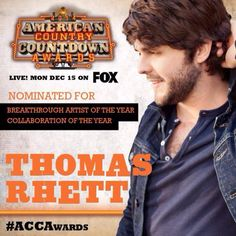 """Calling all BMLG fans, We need your help! Vote once a day for our boy Thomas Rhett by tweeting the sentence below...  """"I vote @ThomasRhett for #ACCAwards Breakthrough Artist of The Year! #HOMETEAM"""" I Love Him, My Love, Thomas Rhett, We Need You, I Voted, Home Team, Sentences, Fans, American"""