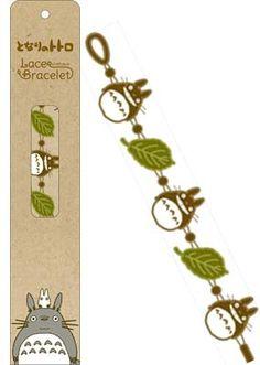 Totoro Lace Bracelet — Totoro & Leaves $12.00 http://thingsfromjapan.net/totoro-lace-bracelet-totoro-leaves/ #totoro stuff #my neighbor totoro #studio ghibli #ghibli item