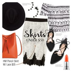 """""""Skirts Under $50"""" by stacey-lynne on Polyvore featuring Lodis, Brixton, MAC Cosmetics and Eye Candy"""