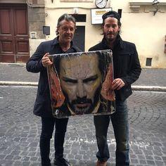 Keanu Reeves in Rome 8 February 2016