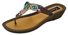Grandco Allure Thong Sandals  Brown  8 -- This is an Amazon Affiliate link. Check out this great product.