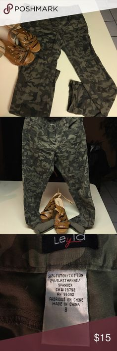 Camo Pants Camo pants (Olive) size 8 and skinny! Cute with anything. These are a must Add Pants Skinny