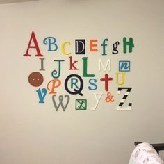 Wooden Letters For Nursery Abc Sign Alphabet Set
