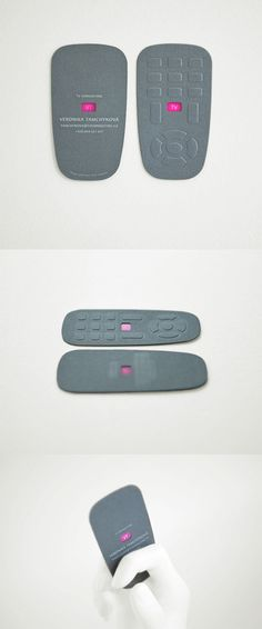 TV Remote Control Card