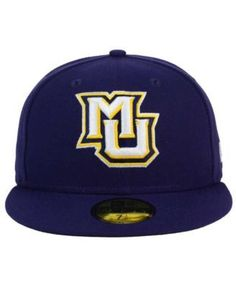 half off 94ec3 6c4a4 New Era Marquette Golden Eagles Ac 59FIFTY Fitted Cap - Blue 6 7 8 ·  Marquette Golden EaglesFitted CapsMens CapsSports Fan ShopTeam ...