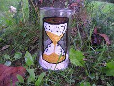 Kerzen - geRIPpe - Grablicht mit Sanduhr - AKR8 - ein Designerstück von romi89 bei DaWanda