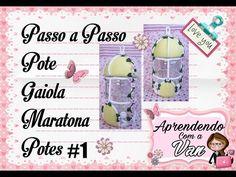 DIY PASSO A PASSO POTE CASINHA FAIRY HOUSE MARATONA POTES #8 - YouTube