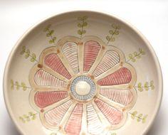 Pasta Bowl - Decorative - Porcelain - Folk Pattern - Illustrated