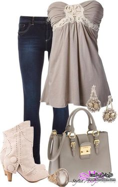 Stylish closet, Summer Outfits For Women, except for the boots.would wear my cowboy boots instead! Komplette Outfits, Spring Outfits, Casual Outfits, Fashion Outfits, Vegas Outfits, Fashion Ideas, Woman Outfits, Club Outfits, Fashion Trends