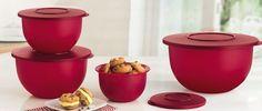 Tupperware Tigelas Murano Marsala kit 4 peças