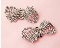 Hey, I found this really awesome Etsy listing at https://www.etsy.com/listing/150235533/rhinestone-bow-shoe-clips-jackie-style